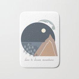 Midnight Sky, Dare to Dream Mountains Bath Mat