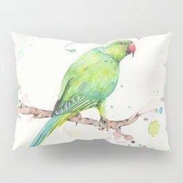 Rose Ringed Parakeet Pillow Sham