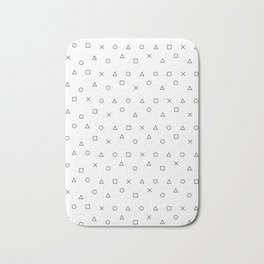 gaming pattern - gamer design - playstation controller symbols Bath Mat
