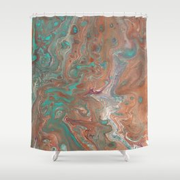 """""""Copperopolis"""" by Laurie Ann Hunter Shower Curtain"""