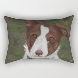 Collie Cross: Clover Rectangular Pillow