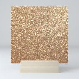 Copper Rose Gold Metallic Glitter Mini Art Print