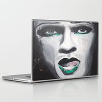 neil gaiman Laptop & iPad Skins featuring Neil by 4:F by Freddie:4