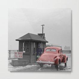 Vintage Toll Booth Metal Print