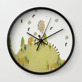 oh my how penguins fly Wall Clock