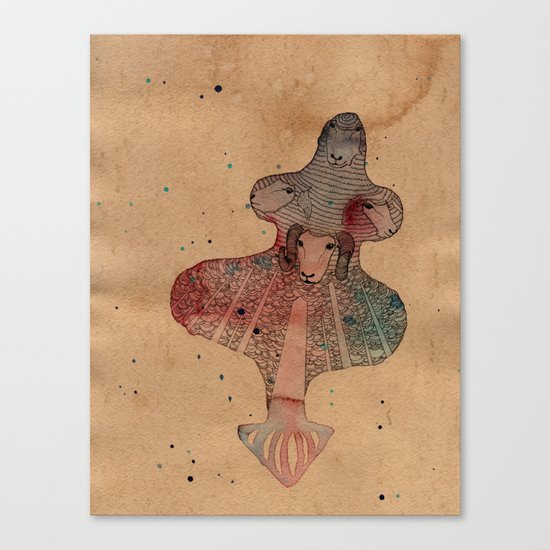Sheep Light Canvas Print