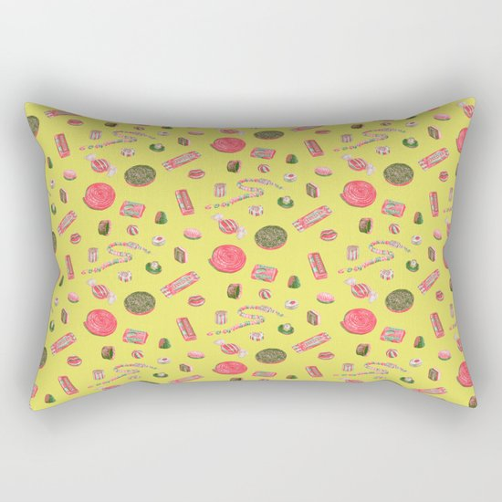 Old Fashioned Boiled Sweets by Chrissy Curtin Rectangular Pillow