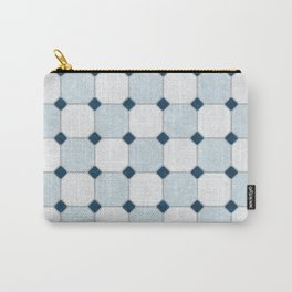 Sky Blue Classic Floor Tile Texture Carry-All Pouch