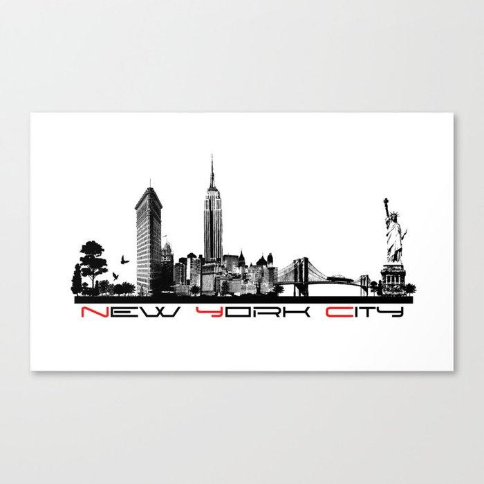 New York City skyline elegant Canvas Print