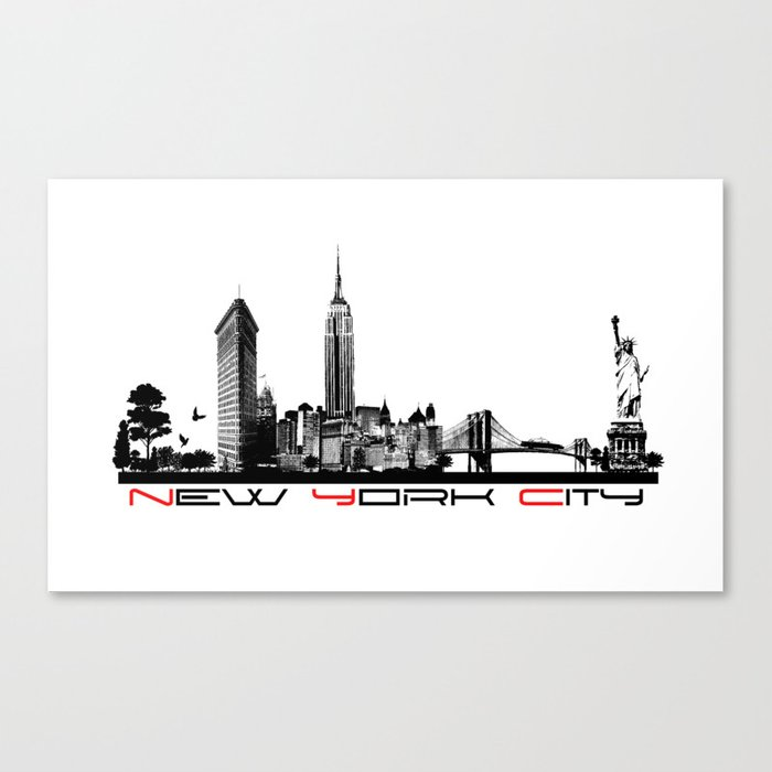 New York City skyline elegant Canvas Print