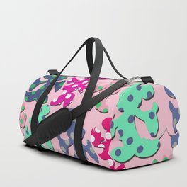 Mickey and Minnie pattern Duffle Bag