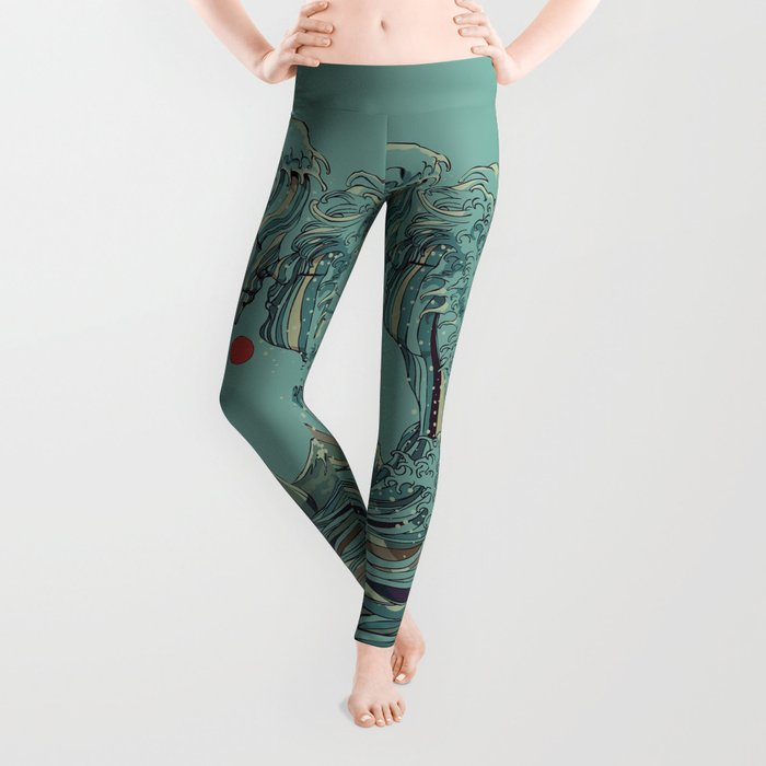 Kissing The Wave Leggings