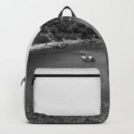 Rhodes Greece Anthony Quinn Bay black white Backpack