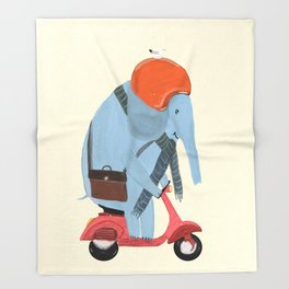 the elephant mobile Throw Blanket