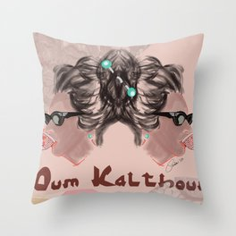 OUM KALTHOUM: VOICE OF EGYPT Throw Pillow
