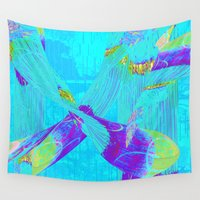 fringe Wall Tapestries featuring Fringe Benefits by Neelie