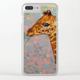 Baby Giraffe Clear iPhone Case