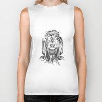 goat Biker Tanks featuring Goat by Sarah Mosser