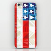 america iPhone & iPod Skins featuring America by Fimbis