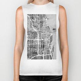 Chicago City Street Map Biker Tank