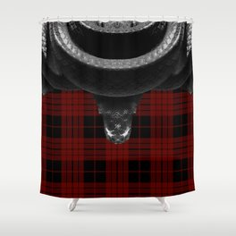 Tartan Snake  Shower Curtain