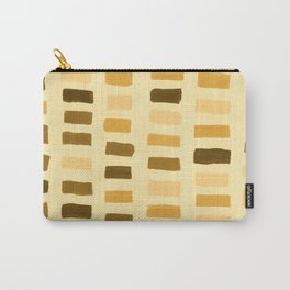 Painted Color Block Rectangles in Yellow Carry-All Pouch