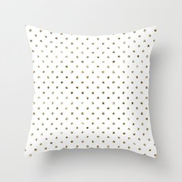 Dainty Gold Stars Pattern Throw Pillow