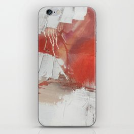 California Sun: a minimal, abstract piece in reds and gold by Alyssa Hamilton Art iPhone Skin