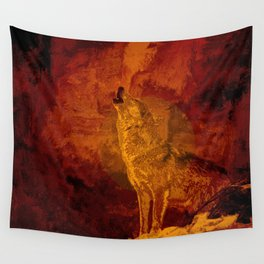 Wolf Spirit Guide Wall Tapestry