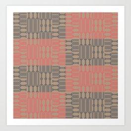 Bosque Gray&Pink Art Print