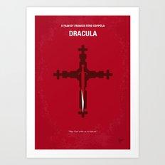 No263 My DRACULA minimal movie poster Art Print