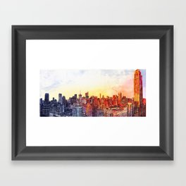 Sunshine in NYC Framed Art Print