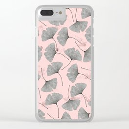 biloba pattern Clear iPhone Case