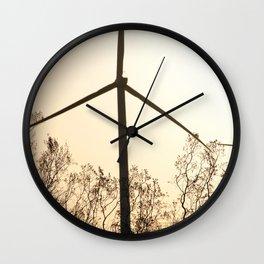 Sunrise with Wind Turbines  Wall Clock
