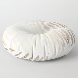 White Gold Sands Vertical Dash Floor Pillow