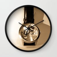 mickey Wall Clocks featuring Mickey by Larry Bierce