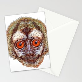 Peruvian Andean Night New World Monkey Face Canvas Stationery Cards