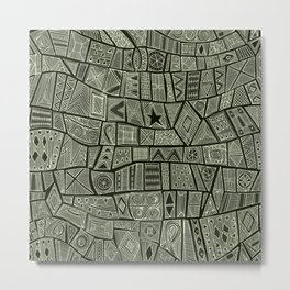 ESHE charcoal mono Metal Print