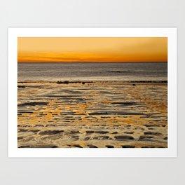 Golden Sunset in Australia Art Print