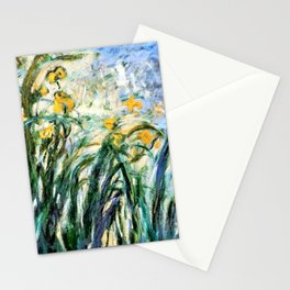 Claude Monet Yellow Irises and Malva Stationery Cards
