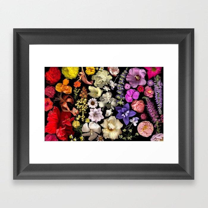 Floral Rainbow Framed Art Print