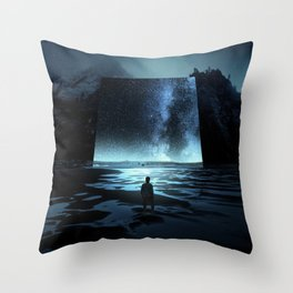 Cosmic Mirror Throw Pillow