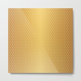 Art Deco, Simple Shapes Pattern 1 [RADIANT GOLD] Metal Print