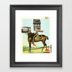 Die Sache mit dem Pferd Framed Art Print
