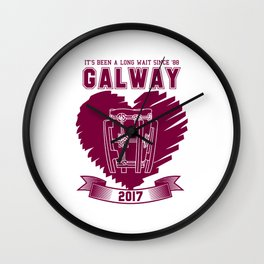 All Ireland Senior Hurling Champions: Galway (White/Maroon) Wall Clock