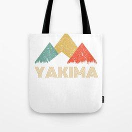 Retro City of Yakima Mountain Shirt Tote Bag