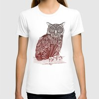 ornate T-shirts featuring Most Ornate Owl by Rachel Caldwell