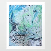 under the sea Art Prints featuring Under Sea by Marnie