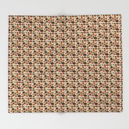 Fall Pumpkin Pattern Throw Blanket