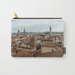Romantic view point on the city of Firenze, Italy | Santa Croce and Le galleria deli Uffizi | Travel photography | Fine art photography Carry-All Pouch